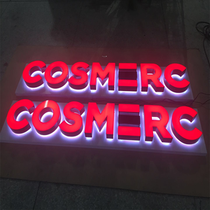 Customized Metal light up letter metal letters for leather metal building letter