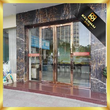 Luxury Metal Stainless Steel Grill Entry Door View Metal Door