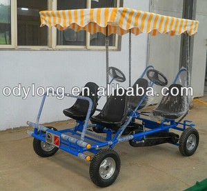 pedal car 4 person pedal go kart with quadricycle
