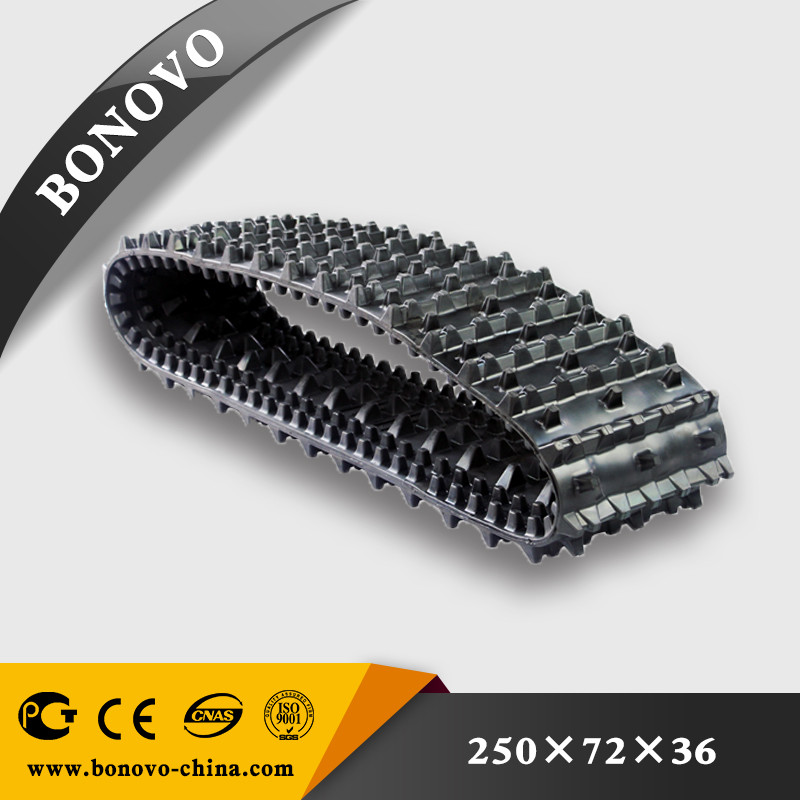 Factory Supply ATV BV206 Rubber Track made from natural rubber for sale for Excavator/Harvester