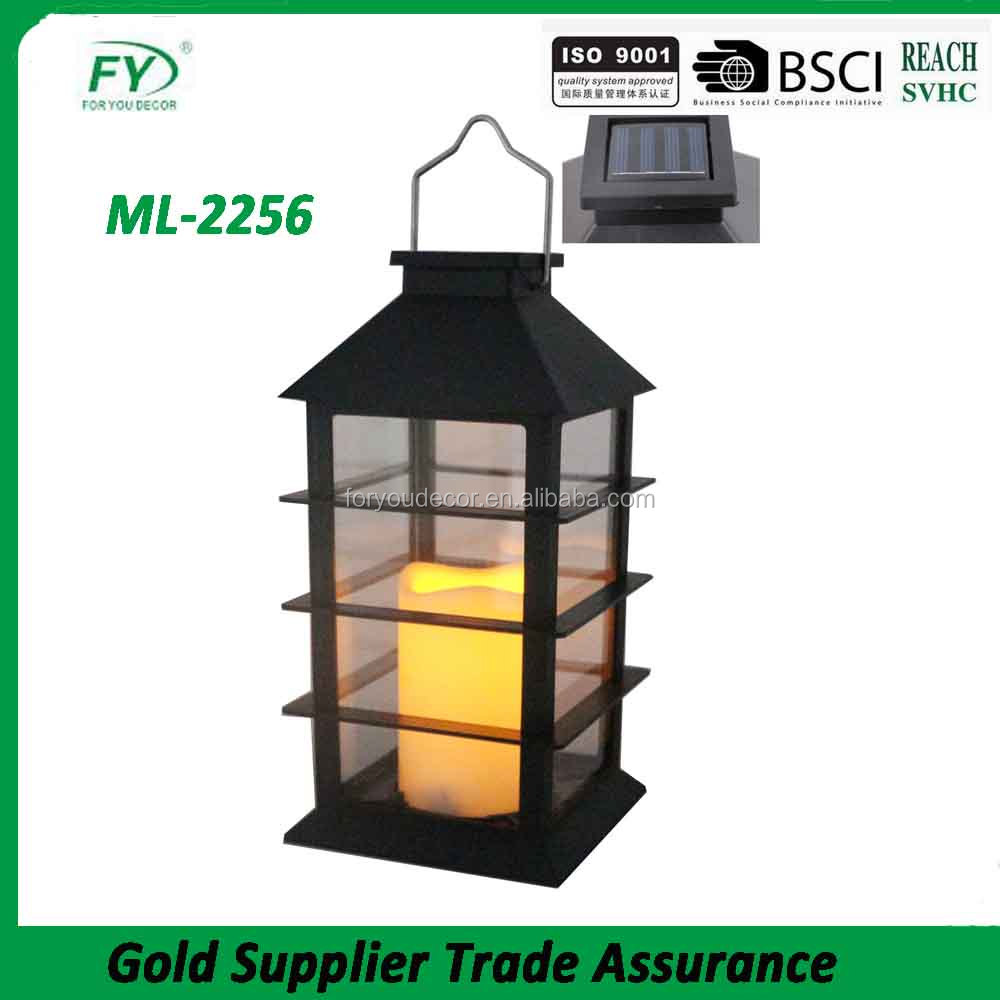 ML-2256 Camping Lights Plastic Material decorative led solar Lantern