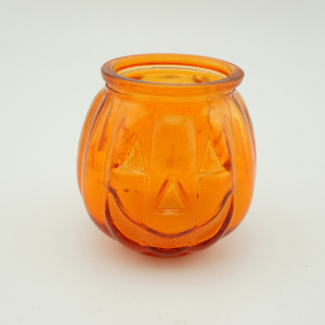 Orange Color Customized Victorian Glass Jar Candle/Bougie wih Emotion