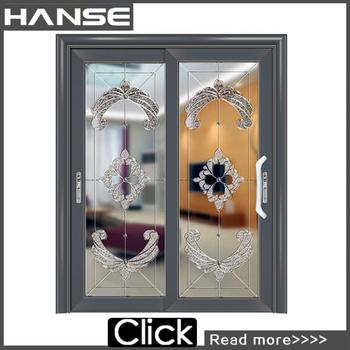Hs 8004 Commercial Industrial Exterior Black Aluminium Glass Doors