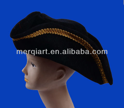 Revolutionary War Deluxe Colonial Tricorn Hat / Pirate Hat