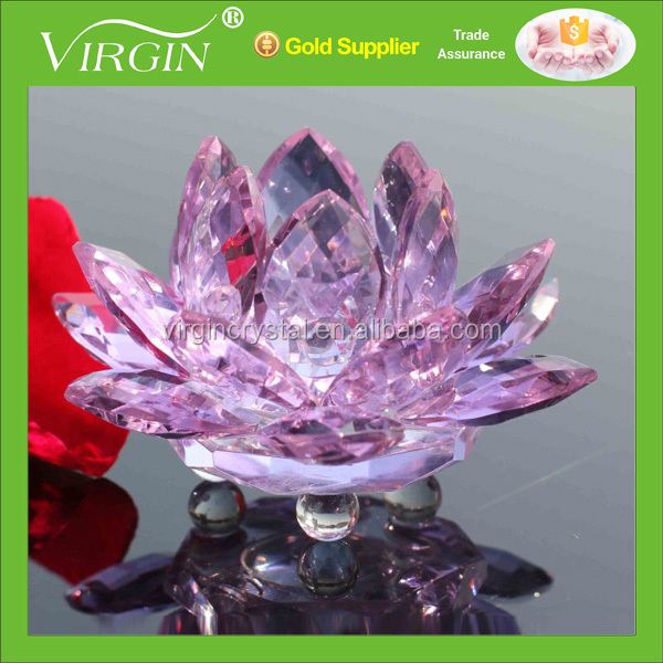 Wholesale Crystal lotus flower Valentine days gifts