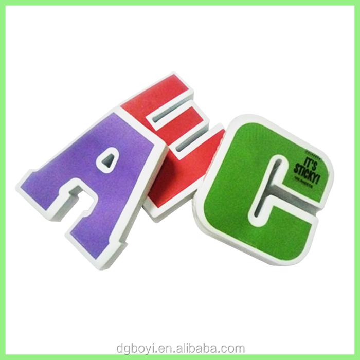 Letter shape sticky notes memo pad a c e s g buy letter for Buy letter shaped sticky notes