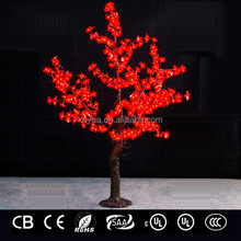 1.5m Artificial led cherry tree light Christmas decoration light FZ-384 Red