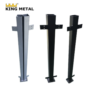 factory price Aluminum 3D fence flanged post