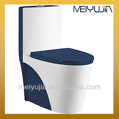 china design siphonic one piece dark blue toilet with built in bidet