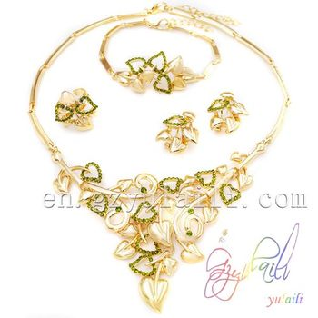 22k Gold Jewellery Dubai New Design Jewelry Set Imitation Jewellery