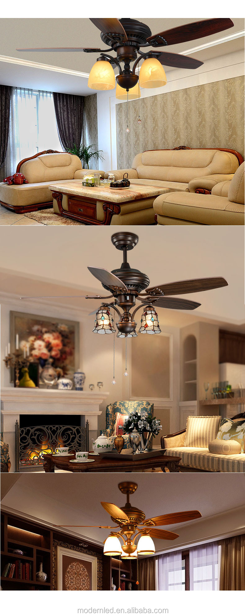 modern 42 inch bladeless ceiling fan with light