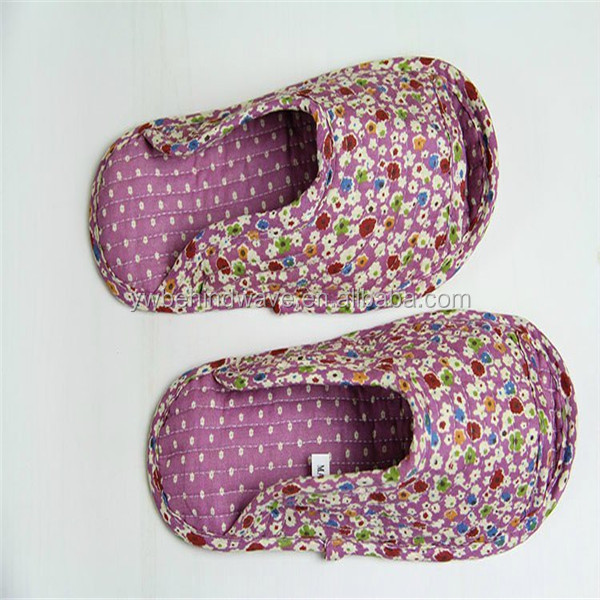 Famous Brand Cotton Fabric Washable women 's slipper Hotel Terry Slipper