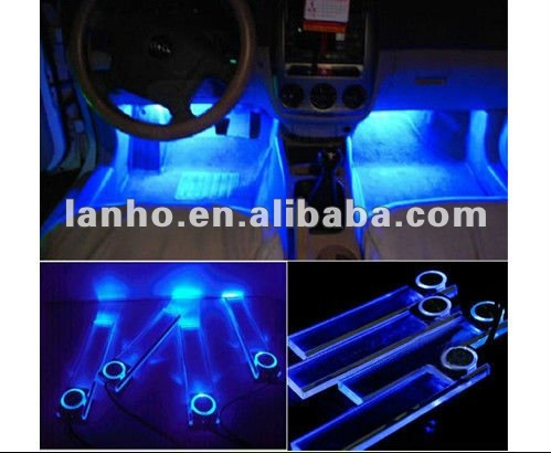 Auto carica 12v 4 led interni decorazione pavimentale luce for Led per interni