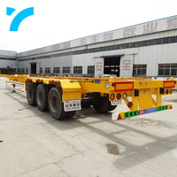 20ft 40ft 2 / 3 / 4 Axle container skeleton walking floor car carrier trailer lowbed semi container trailer