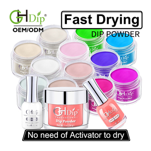 Custom private label 2000 Color Fast Drying Dip Powder match Gel Polish and Nail Lacquer