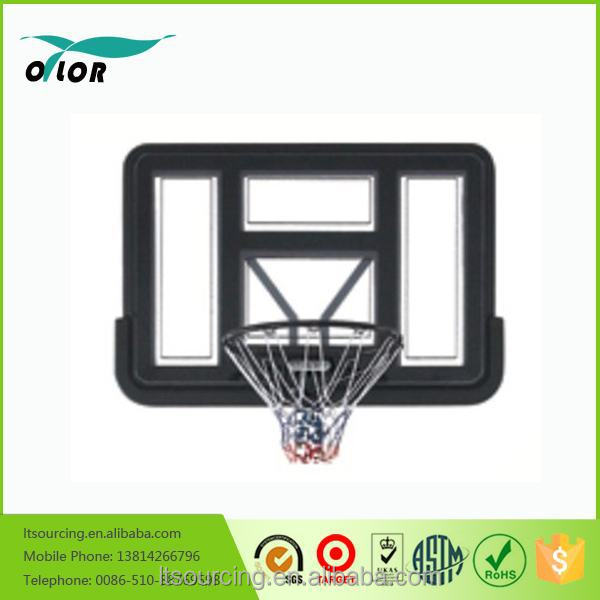 Deluxe black wall mounting glass basketball backboard