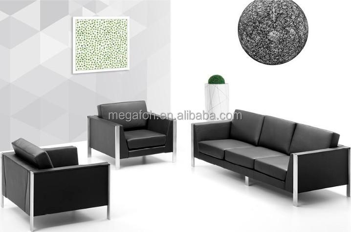 Lobby Sofa Design With Metal Frame Foh