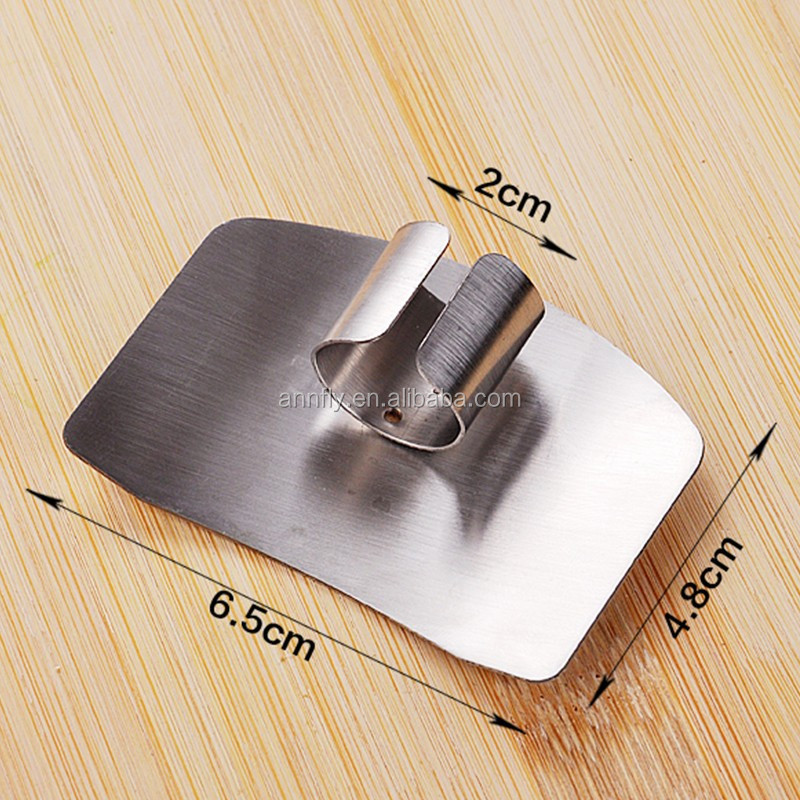 Stainless Steel Finger Hand Protector Guard Chop Slice Safe Kitchen Gadget Tool