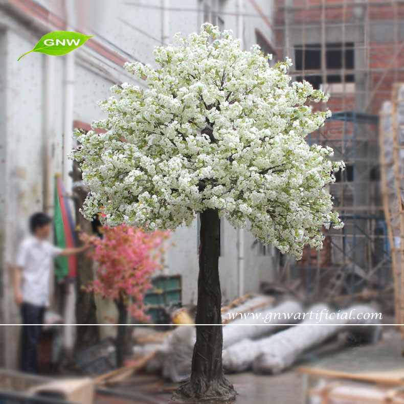 Gnw Bls039 China Supplier White Flowers Artificial Cherry Wedding ...