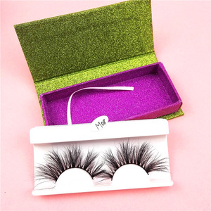 16 Styles mink 3D strip eyelashes Custom box label Super soft and mink lashes 25mm