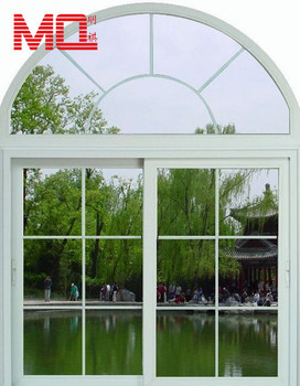 Modern High Quality Upvc Arch Window Design With Grid Half