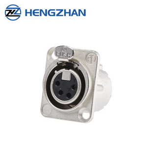 HZSD 4 Pin Panel Mount Female XLR Connector