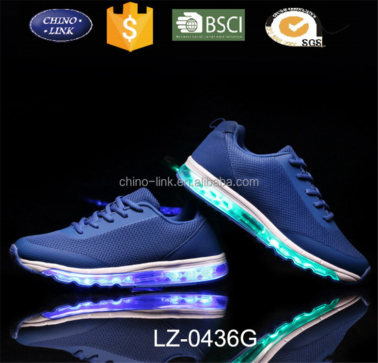 Brand led light up air sport shoes factory, luminous led shoes men max comfortable hot sell casual kids and lady sneakers shoes