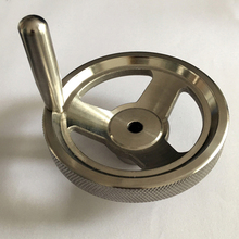 High quality 160mm metal mechanical hand wheel 304 316 stainless steel high strength rotating handle hand wheel