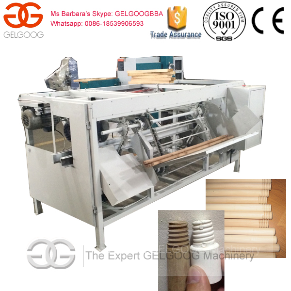 Machine to Make Broom Handle/Wood Broom Handle Processing Machine/Wood Broom Stick Threading Machine