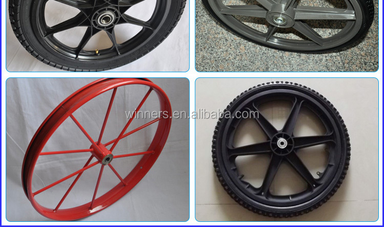 "20"" pneumatic plastic spoke bicycle trailer wheel"