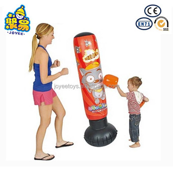 Kids Inflatable Children Boxing Punching Bag Roly Poly Yeti Tumbler For Training
