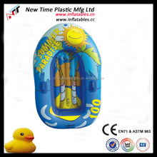 children pvc inflatable baby float boat