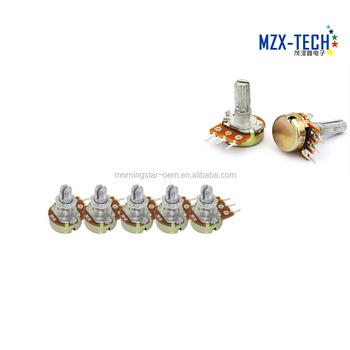High Quality Wh148 B10k Linear Potentiometer Pot Single Joint 1k 2k 5k 10k  20k 50k 100k 250k 500k 1m 500 Ohm - Buy Potentiometers 2 2k