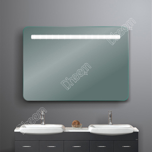 China Manufactory IP44 Defogger Touch Sensor Switch Bathroom LED Light Mirror With clock