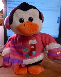 Christmas Penguin Dancing Deck the Halls Electronic Plush Toy