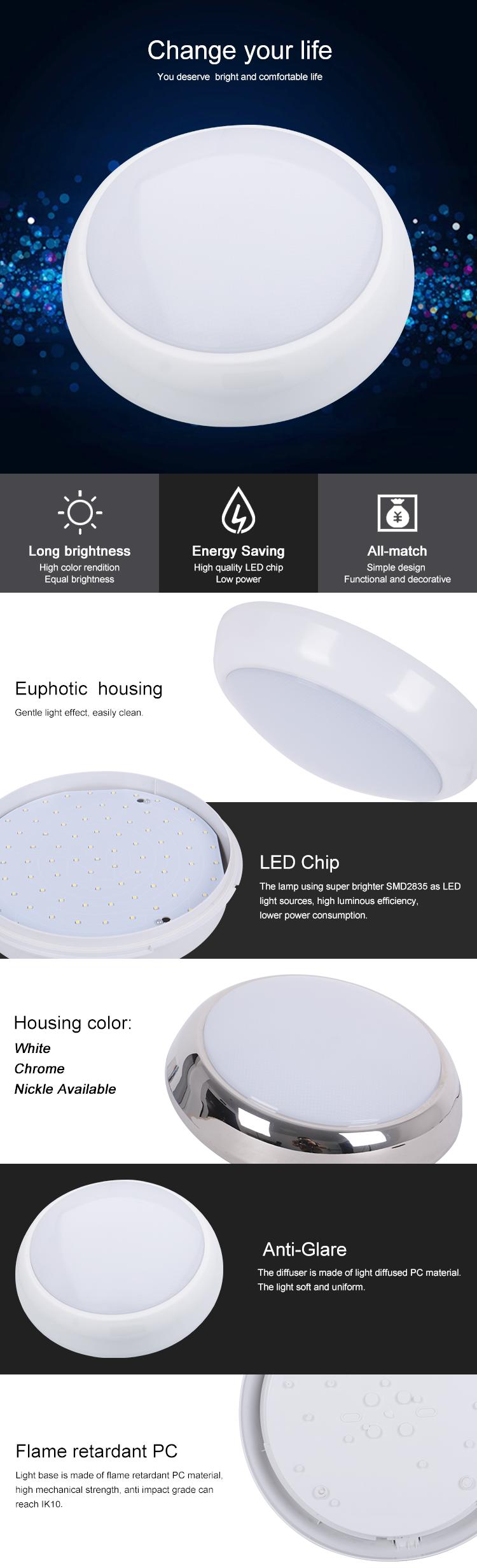IP54 Infrarood Sensor 15 w 18 w led plafondlamp motion sensor ronde led plafond licht dimmen armatuur, led verlichting plafond