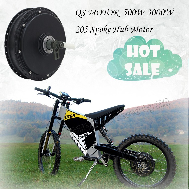 QS Motor 500W-3000W 205 Brushless DC Electric Bike Bicycle Spoke Hub Motor