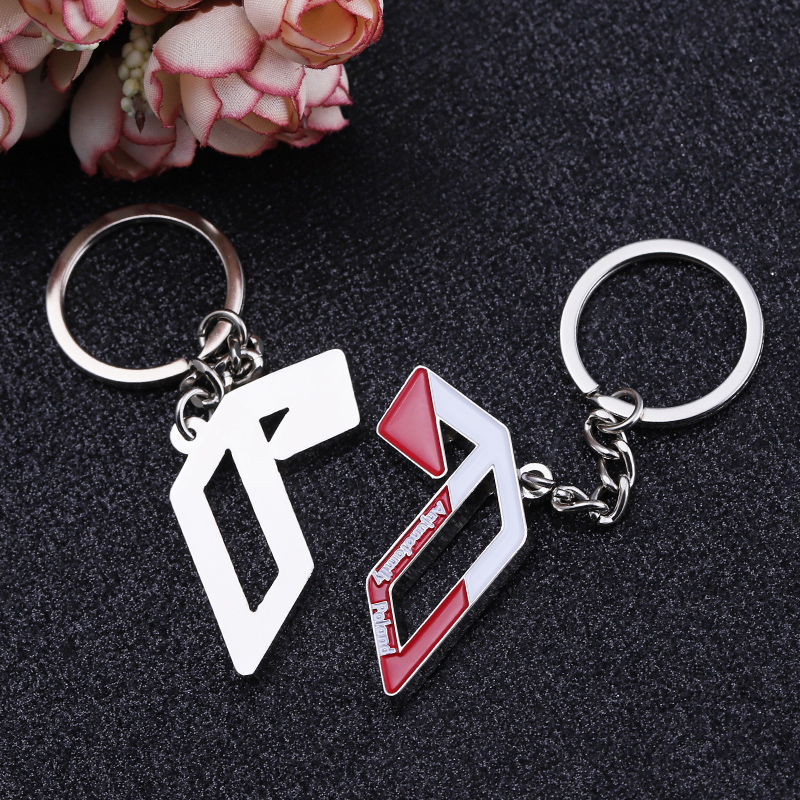 No MOQ  Custom Logo Metal New alloy silver enamel resin  Keychain key ring
