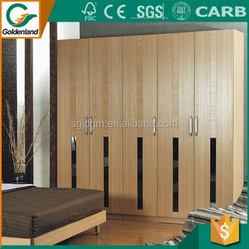 Foshan Cheap Small Wooden Almirah Closet Organizers Double Door Indian Bedroom Wardrobe Designs With Mirror