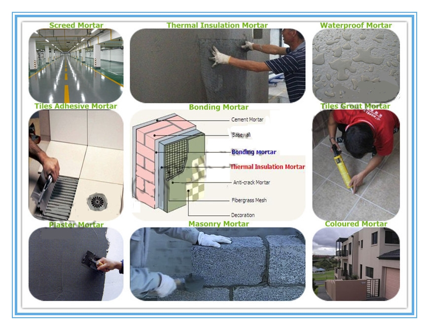 Cement based tile adhesive grout polymer compound emulsion/ polymer resin