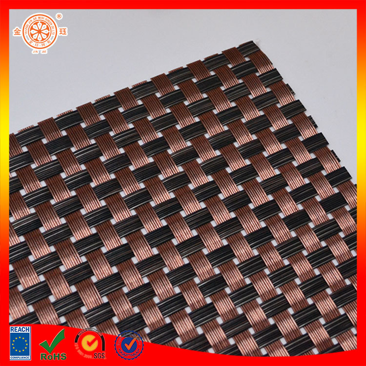 hotel woven place mat table food cover plastic pvc dining table