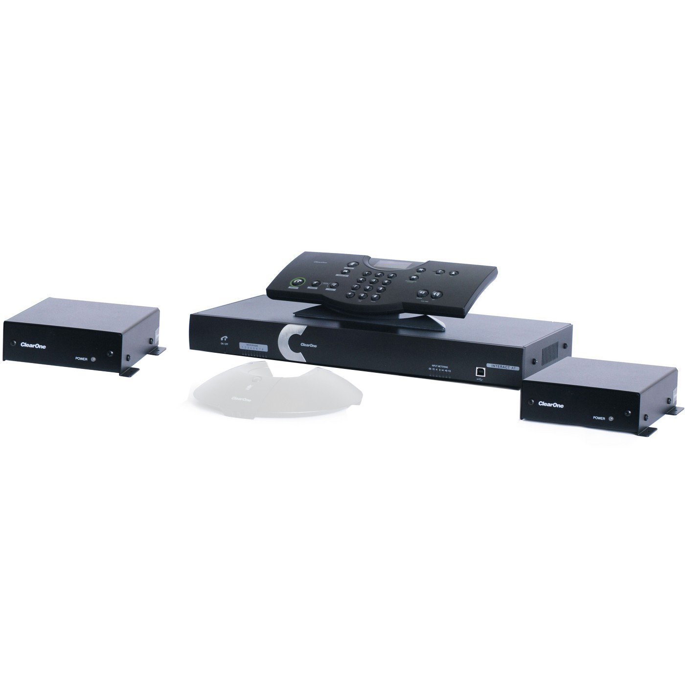 ClearOne Interact AT Bundle I | Complete Audio Conferencing Solution Two Microphone Box Wired Controller 930-154-500