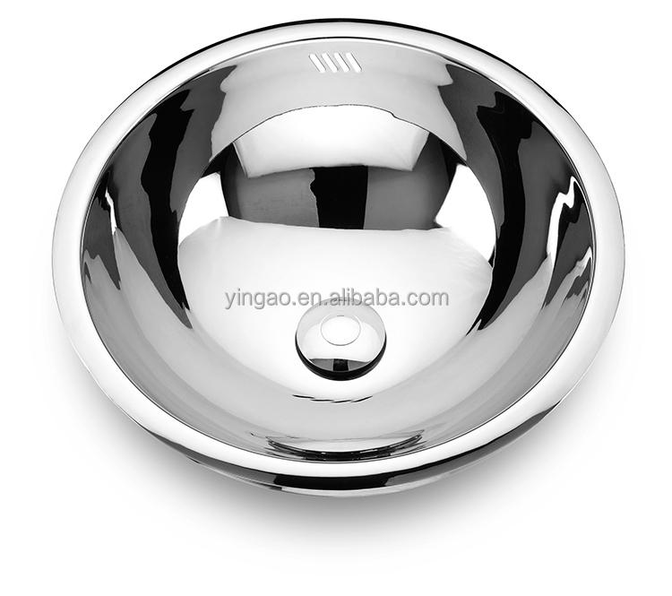 Unique design Single bowl small Round Undermount Kitchen Sink