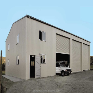Ready made steel building 3 car prefab garage apartments construction design