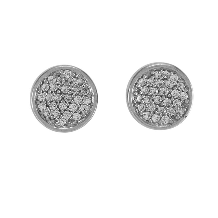 cubic zirconia ROUND small earrings
