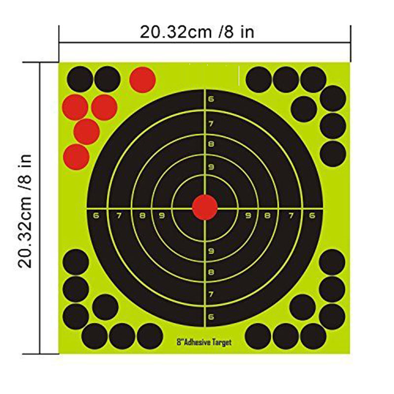 "Splatter Targets 8 inch Adhesive ""Peel & Stick"" Reactive Shooting Targets For practice"