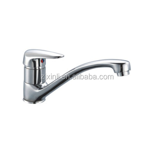 Zinc Deck Mounted Sink Faucet, Polish and Chrome Finish, Deck Mounted