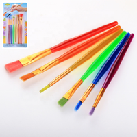 Hot Sale Art Supplies Kids Paint Sets Candy Color Plastic Handle Kids Painting Brush Set For Kids