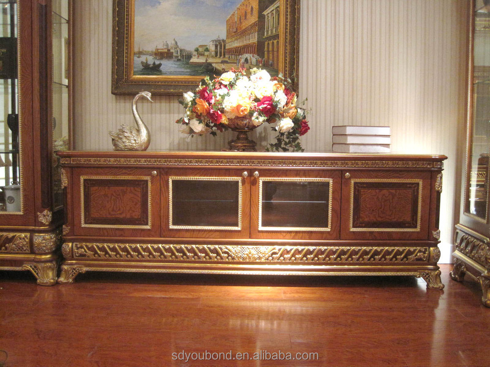 0062 Italy design High-end antique furniture showcase TV cabinet - 0062 Italy Design High-end Antique Furniture Showcase Tv Cabinet