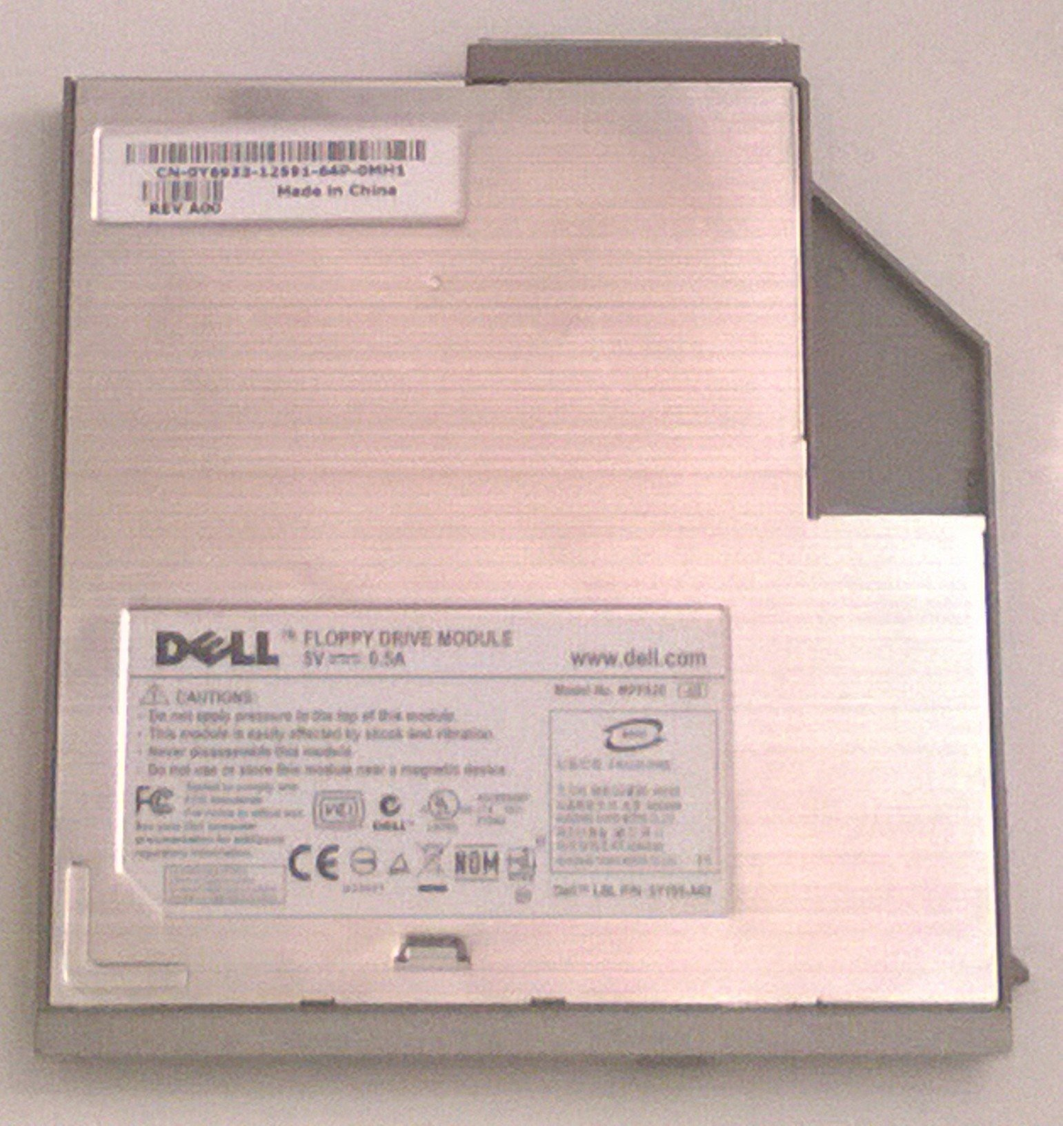 Dell Y6933 Inspiron Latitude Laptop Floppy Drive, 6Y185-A02